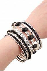 Chic Rhinestone Faux Gem Multilayered Bracelet For Women -