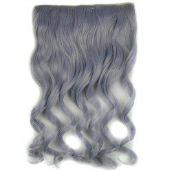 Prevailing Light Grandma Ash Synthetic Shaggy Curly Long Hair Extension For Women -
