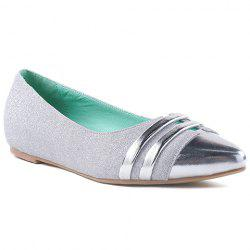 Stylish Splicing and Sequined Cloth Design Flat Shoes For Women -