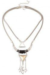 Triangle Hollow Pendant Necklace