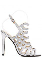 Stylish Peep Toe and Sequined Design Sandals For Women