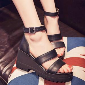 Fashionable Platform and Ankle Strap Design Sandals For Women -