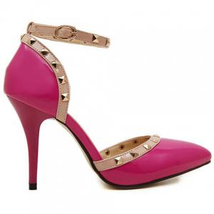 Trendy Rivets and Two-Piece Design Pumps For Women -