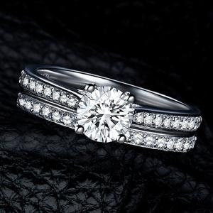 2PCS Vintage Rhinestone Rings For Women -