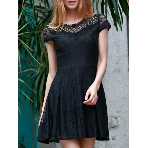 Lace Flare Short Formal Party Dress