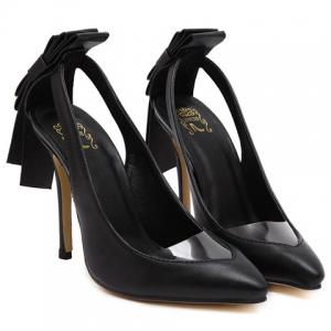 Graceful Hollow Out and Transparent Plastic Design Pumps For Women -
