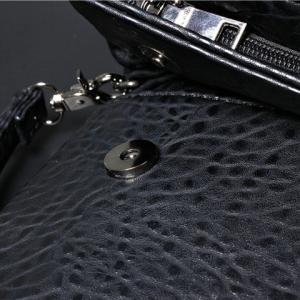 Fashionable Black Color and Embossing Design Clutch Bag For Women - BLACK