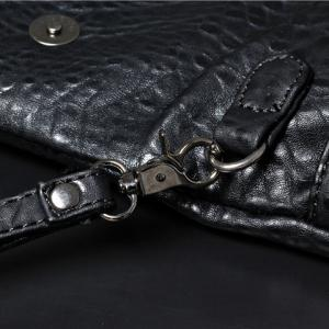 Fashionable Black Color and Embossing Design Clutch Bag For Women -