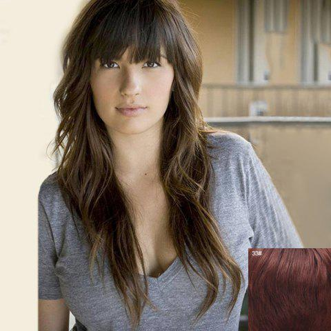 Buy Shaggy Wave Full Bang Charming Long Capless Human Hair Wig