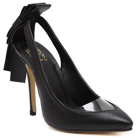 Affordable Graceful Hollow Out and Transparent Plastic Design Pumps For Women