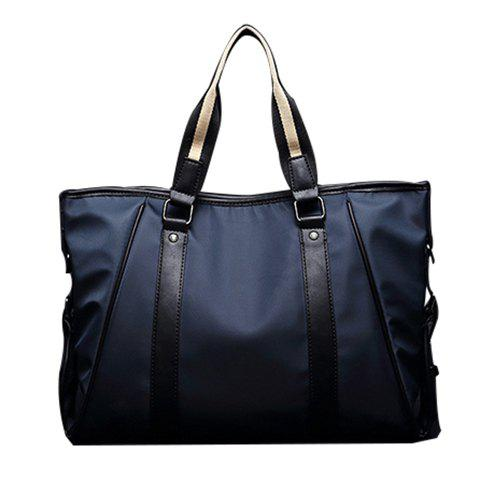 Latest Stylish PU Leather and Color Block Design Briefcase For Men