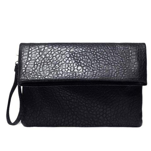 Outfits Fashionable Black Color and Embossing Design Clutch Bag For Women