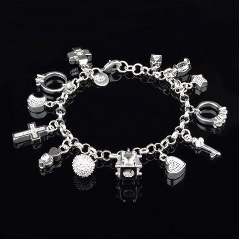 Shops Vintage Cross Star Moon Key Shape Bracelet For Women