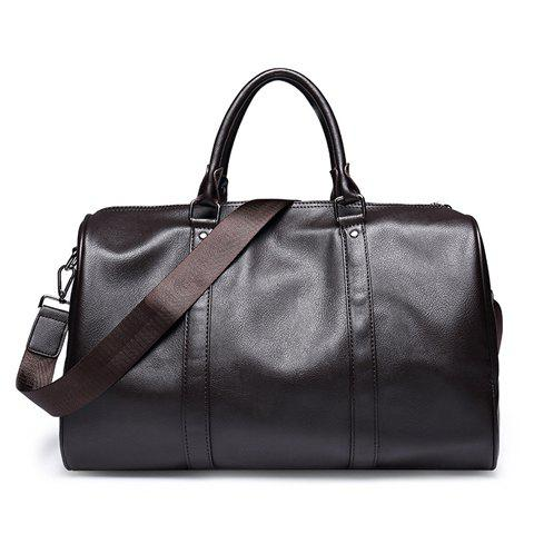 Outfits Simple Metal and Solid Colour Design Messenger Bag For Men