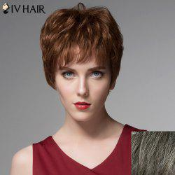 Towheaded Wavy Capless Stylish Short Side Bang Siv Hair Real Human Hair Wig For Women -