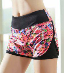 Elastic Printed Running Shorts