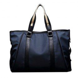 Stylish PU Leather and Color Block Design Briefcase For Men -