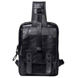 Leisure Metal and Black Color Design Messenger Bag For Men