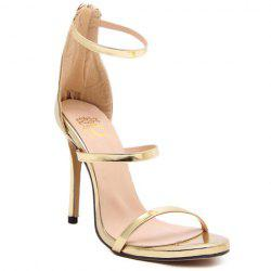 Fashionable Strappy and Zipper Design Sandals For Women -