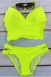 Trendy Padded Neon Women's Two-Piece Swimsuit