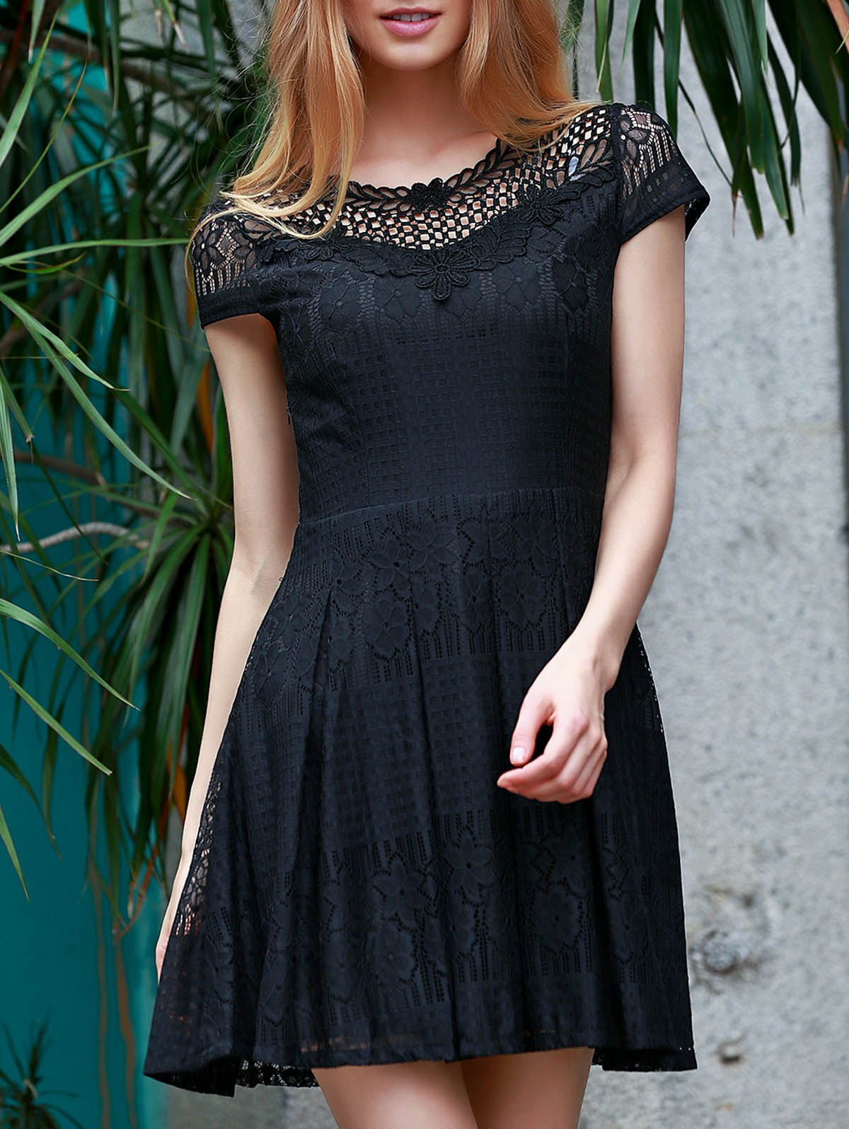 Best Lace Flare Short Formal Party Dress