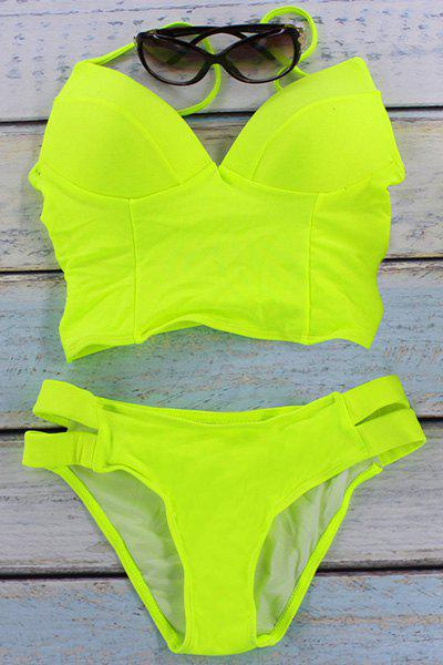 Hot Trendy Padded Neon Women's Two-Piece Swimsuit