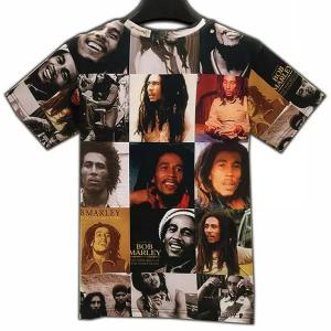 Casual Round Collar Figures Printed T-Shirt For Men - COLORMIX XL