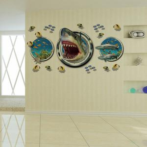 Underwater World Pattern 3D Wall Stickers For Living Room Bedroom Decoration - COLORMIX