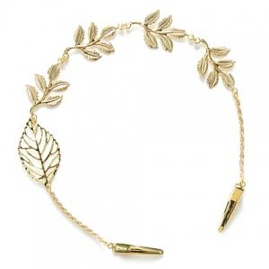 Stylish Leaf Embellished Solid Color Alloy Headband For Women -