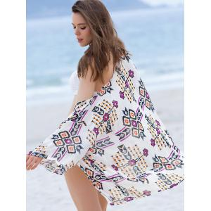 Fashionable Geometrical Short Sleeve Cover-Up Kimono For Women -