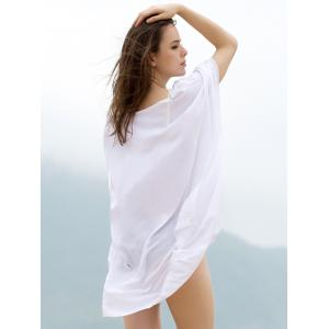 Fashionable Plunging Neck 3/4 Sleeve Cover-Up Dress For Women -