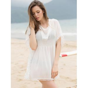 Fashionable Scoop Neck Dolman Sleeve Cover-Up Dress For Women -