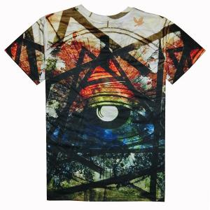 Casual Round Collar Colorful Printed T-Shirt For Men - COLORFUL XL