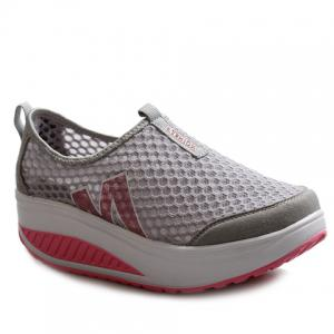 Casual Letter and Splicing Design Athletic Shoes For Women - Gray - 37