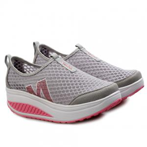 Casual Letter and Splicing Design Athletic Shoes For Women - GRAY 35