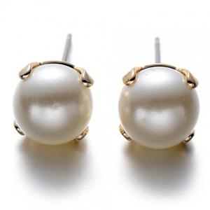 A Suit of Graceful Faux Pearl Heart Earrings For Women -
