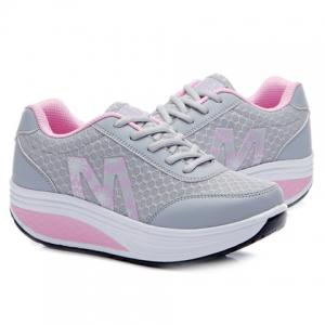 Stylish Lace-Up and Letter Design Athletic Shoes For Women -