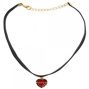 Stylish Letters Heart PU Leather Rope Necklace For Women -