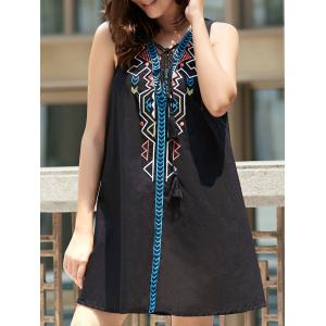 Sleeveless Geometric Pendant Casual Classy Dress