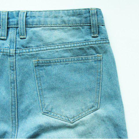 Trendy Casual Frayed Bermuda Denim Long Shorts - 29 LIGHT BLUE Mobile