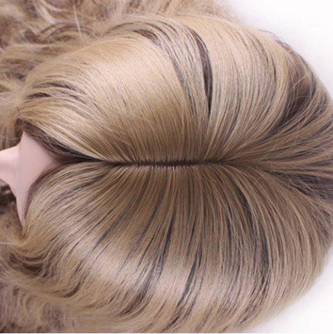 Discount Bouffant Curly Long Synthetic Trendy Light Blonde Mixed Brown Middle Part Cosplay Wig For Women - COLORMIX  Mobile