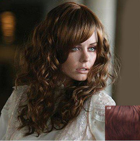 Outfits Attractive Inclined Bang Capless Fluffy Curly Long Real Natural Hair Wig For Women