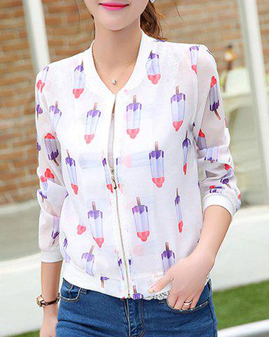 Outfit Ice Cream Print Long Sleeve Jacket
