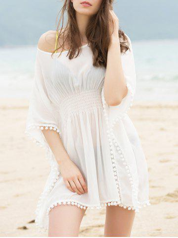 Outfit Fashionable Scoop Neck Dolman Sleeve Cover-Up Dress For Women