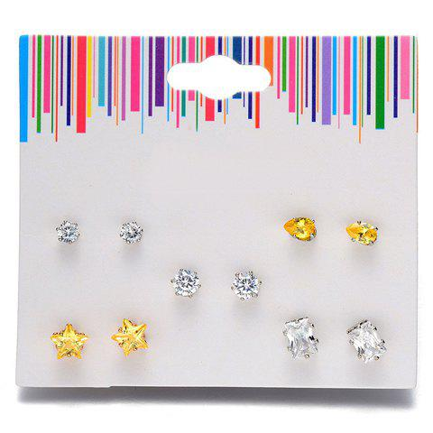 Affordable A Suit of Graceful Rhinestone Star Water Drop Earrings For Women