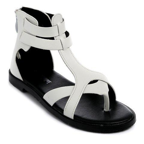 Outfits Leisure Zipper and Flip Flop Design Sandals For Women