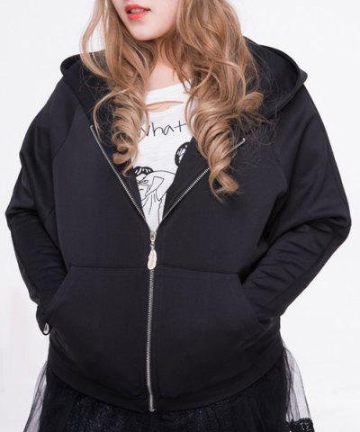 Trendy Casual Long Sleeve Plus Size Hoodie Outerwear For Women