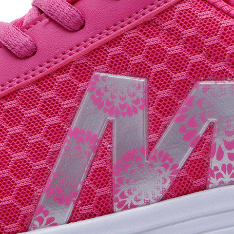 Chic Stylish Lace-Up and Letter Design Athletic Shoes For Women - 40 ROSE Mobile