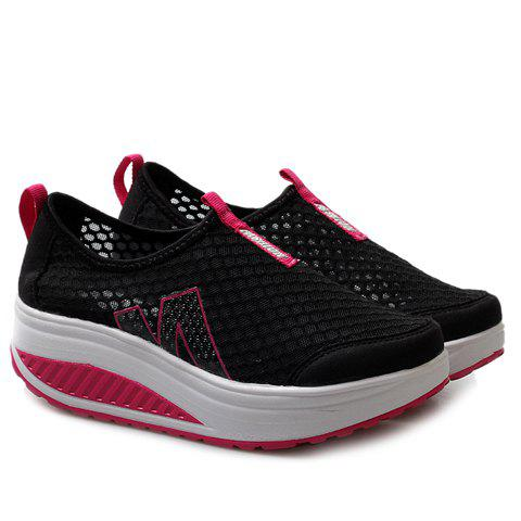 New Casual Letter and Splicing Design Athletic Shoes For Women - 38 BLACK Mobile