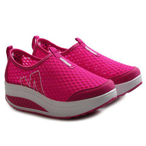 Chic Casual Letter and Splicing Design Athletic Shoes For Women - 36 ROSE Mobile